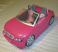 Buy Barbie Glam Convertible Car Hot Pink Glitter Mattel 2013 w/2 barbie's