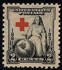 Buy 1931 2c Red Cross, 50th Anniversary Scott 702 Mint F/VF NH