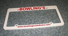 Buy Bowlings Cars Advertising License Plate Frame Canton Ohio For Dog Rescue Charity