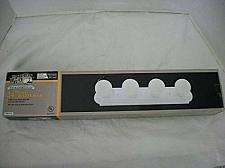 Buy Hampton Bay 4-Light Flush Mount White Raceway Bath Bar Light