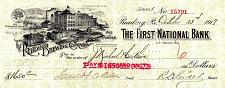 Buy October 23, 1919 The Reading Brewing Company Standard Beers Bank Check Draft, PA