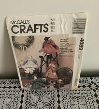 Buy New McCalls Crafts Pattern 4089 Uncut Country Friends Bear Bunny Goose Sheep