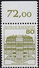 Buy GERMANY BUND [1982] MiNr 1140 A ( **/mnh ) [01] Bauwerke O-Rand