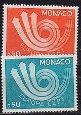 Buy MONACO [1973] MiNr 1073-74 ( **/mnh ) CEPT