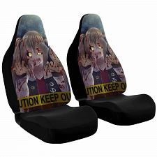 Buy Dark Anime Girl Car Seat Covers Nerdy Geeky Pop Culture Set of 2 Front Seat