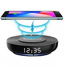 Buy Wireless Charging Pad with Digital LED Clock by CobaltX