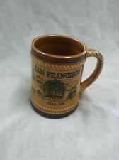 Buy Vintage San Francisco, CA Souvenir Coffee Mug- Brown/Tan Colored With Handle