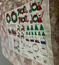 Buy Brand New Cranston VIP Cotton Fabric Panel Deck The Halls Christmas Appliques