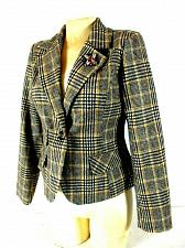 Buy Urban Republic women's Medium Black Beige Plaid lined WOOL button jacket (C)pm2