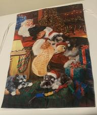 Buy Brand New Schnauzer Dog Puppies Sleeping with Santa Mini Garden Flag 12 x 18