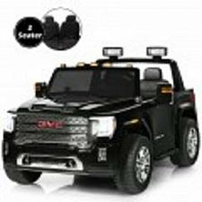 Buy 12V 2-Seater Licensed GMC Kids Ride On Truck RC Electric Car with Storage Box
