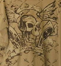 Buy Men's XL Born 2 Rock Skull T-Shirt