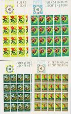 Buy LIECHTENSTEIN [1970] MiNr 0521-24 Kleinbogen ( **/mnh ) Blumen