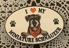 Buy I Love My Miniature Schnauzer Wooden Magnet For Cocker Spaniel Rescue Charity