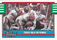 Buy Tuggle Falls on Fumble #514 - Falcons 1990 Topps Football Trading Card