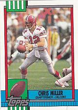 Buy Chris Miller #472 - Falcons 1990 Topps Football Trading Card