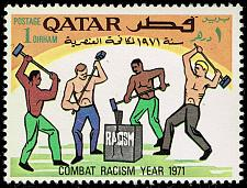 Buy Qatar #259 Men Splitting Racism; Unused (2Stars) |QAT0259-02XVA