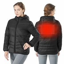 Buy Hooded Electric USB Women's Down Heated Jacket