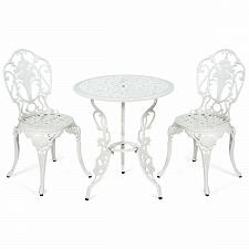 Buy 3 PCS Patio Table Chairs Furniture Bistro Set
