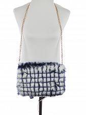 Buy BLUE/WHITE FAUX FUR CLUTCH BAG ACCESSORY