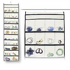 Buy Stylishly Stored 52 Pocket Hanging Canvas Jewelry Organizer