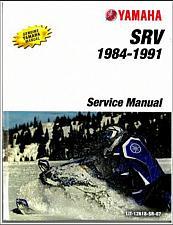 Buy 1981-1991 Yamaha SRV 540 Snowmobile Service Repair Manual CD --- SR540 SRV540 SR