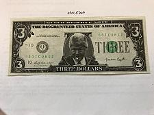 Buy United States Clinton uncirculated banknote 3 dollars funny money