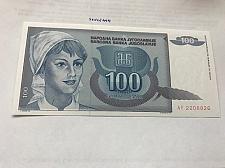 Buy Yugoslavia 100 dinara uncirc. banknote 1992 #1