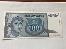 Buy Yugoslavia 100 dinara uncirc. banknote 1992 #2