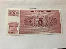 Buy Slovenia 5 Tolars uncirc. banknote