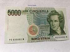 Buy Italy Bellini uncirculated banknote 5000 lira #4