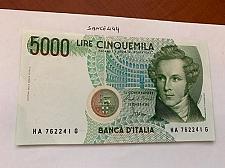 Buy Italy Bellini uncirculated banknote 5000 lira #7