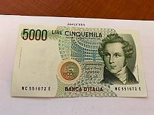 Buy Italy Bellini uncirculated banknote 5000 lira #9