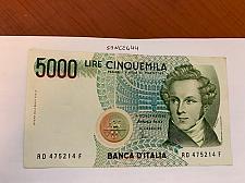 Buy Italy Bellini circulated banknote 5000 lira #1