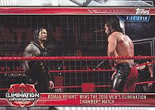 Buy Roman Reigns - Elimination Chamber #28 - WWE 2018 Topps Wrestling Trading Card