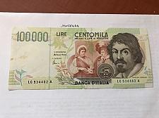 Buy Italy Caravaggio 100000 lire uncirc. banknote 1994 #1