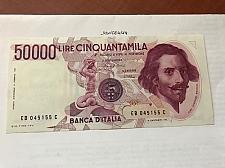 Buy Italy Bernini 50000 lire uncirc. banknote 1994