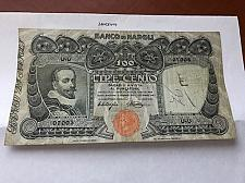 Buy Italy Banco di Napoli 100 lira banknote 1918