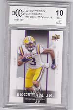 Buy Odell Beckham Jr #11 - Graded Rookie - BCCG 10 MINT - 2014 UD Football Card