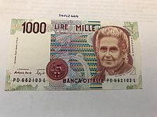 Buy Italy Montessori 1000 lire uncirculated banknote #3