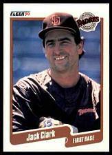 Buy 1990 Fleer #152 Jack Clark Padres NM-MT