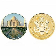 Buy United States Wonders of World Taj Mahal golden coin