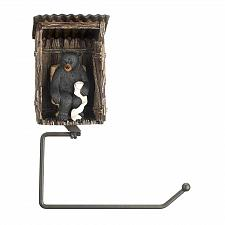 Buy Outhouse Bear Toilet Paper Holder