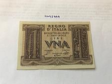 Buy Italy 1 lira uncirculated banknote 1939 #1