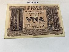 Buy Italy 1 lira uncirculated banknote 1939 #2