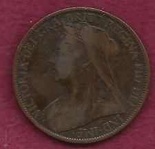 Buy GREAT BRITAIN 1 Penny 1900 Coin (England) Victoria (Copper)