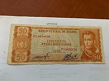Buy Bolivia 50 pesos bolivianos circulated banknote 1962 #3
