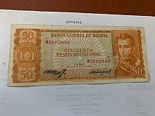 Buy Bolivia 50 pesos bolivianos circulated banknote 1962 #4