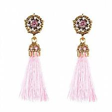 Buy Tassel Crystal Drop Fashion Earrings