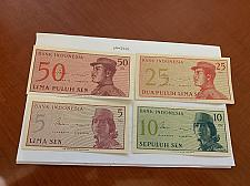 Buy Indonesia lot of 4 uncirc. banknotes 1964 #2